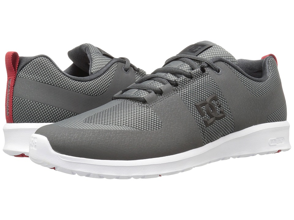 DC - Lynx Lite R (Grey/Grey/Red) Skate Shoes
