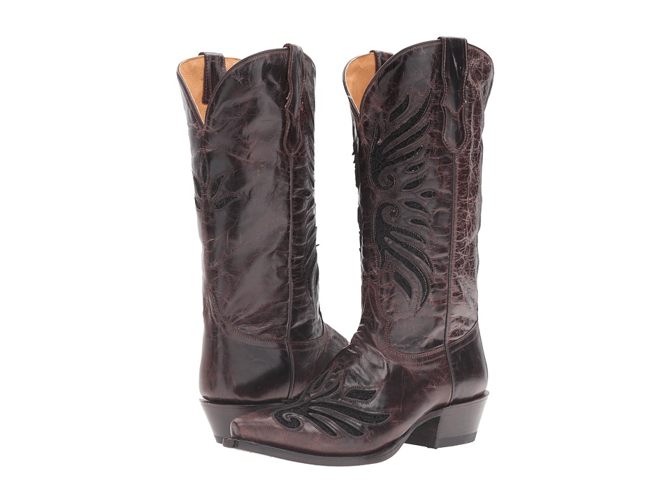 Roper - BB Lace (Brown Laser Cut/Black Lace) Cowboy Boots