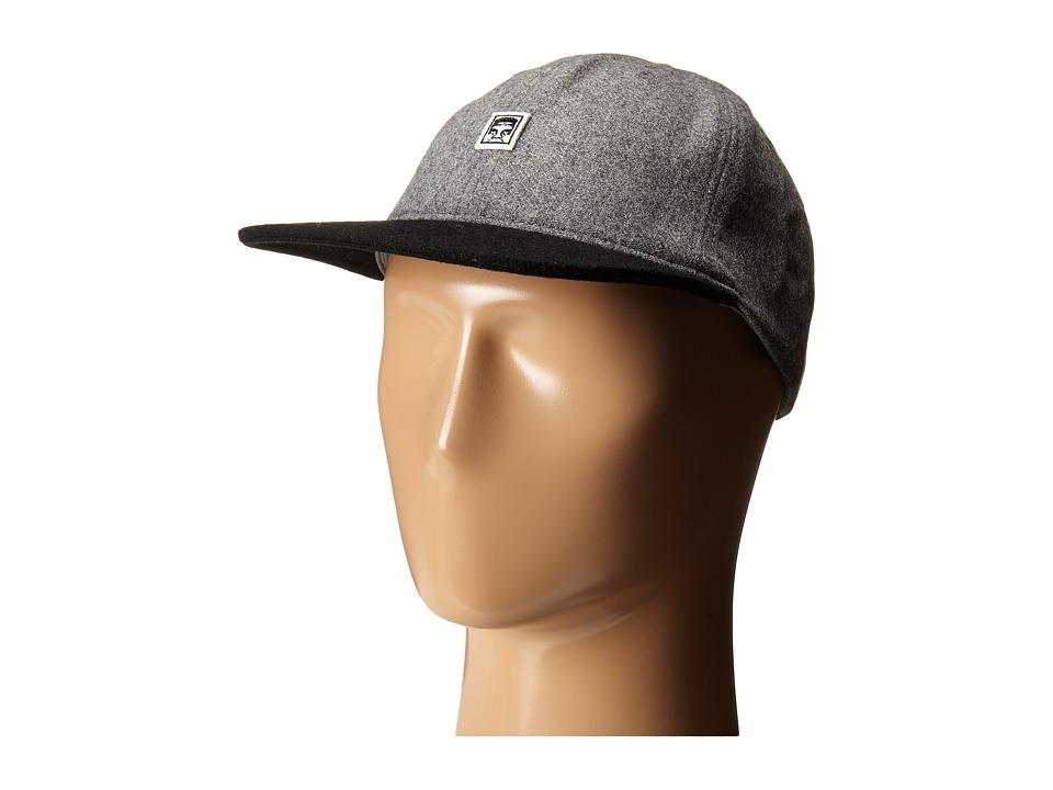 Obey - Nineteen Eighty Nine 6 Panel Hat (Heather Grey/Black) Caps
