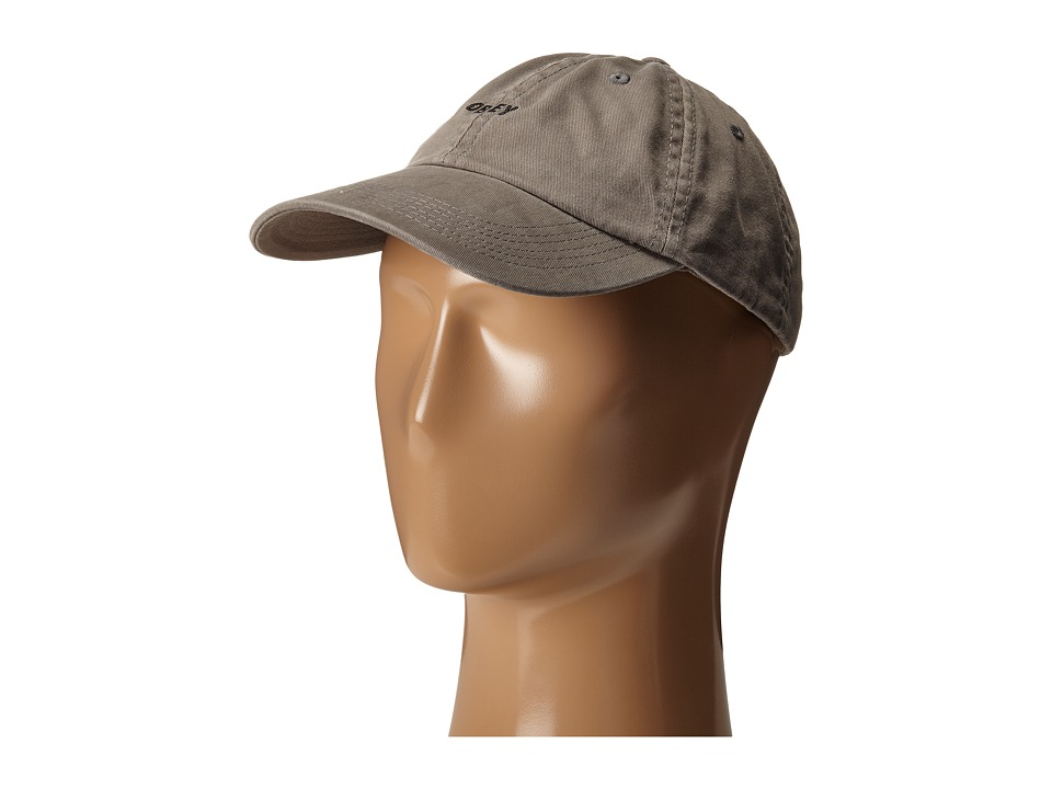 Obey - Jumble Bar 6 Panel Hat (Charcoal) Caps
