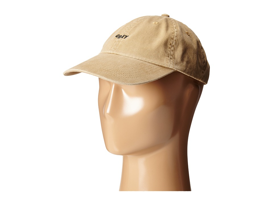 Obey - Jumble Bar 6 Panel Hat (Khaki) Caps