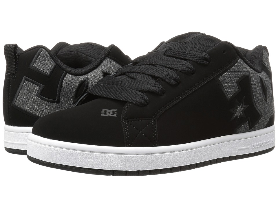 DC - Court Graffik SE (Black Wash) Men's Skate Shoes