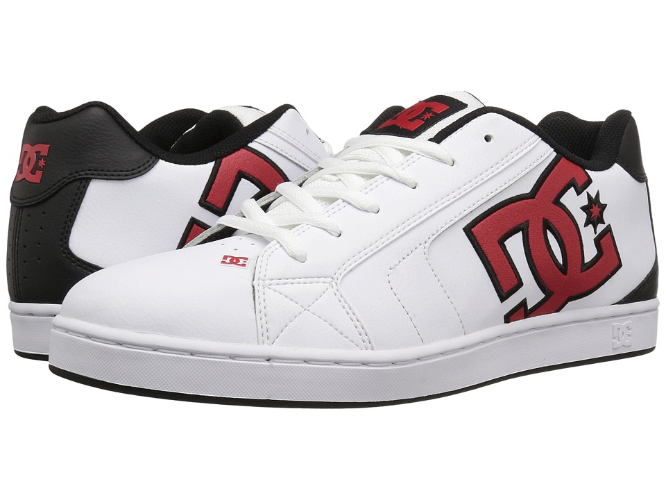 DC - Net (White/Athletic Red/Armor) Men's Skate Shoes