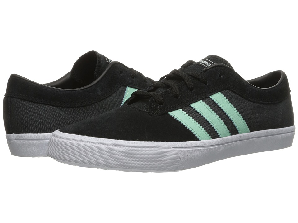 adidas Skateboarding - Sellwood (Black/Ice Green/Dark Grey Heather Solid Grey) Men's Skate Shoes