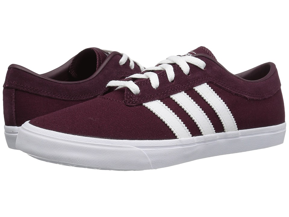 adidas Skateboarding - Sellwood (Maroon/White/Maroon) Women's Skate Shoes