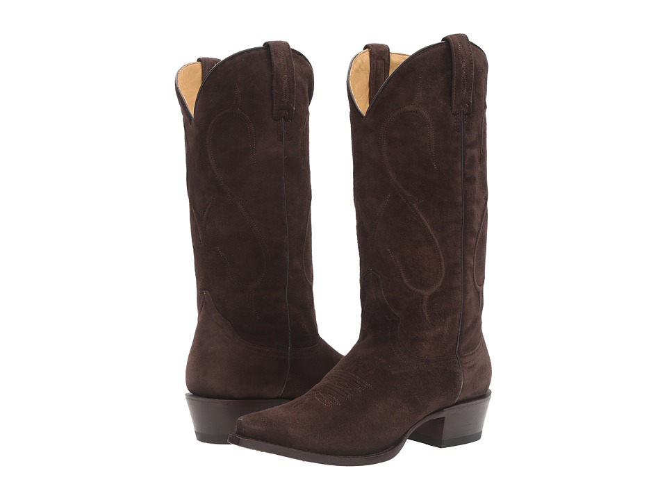 Stetson Reagan Snip (Chocolate Brown) Cowboy Boots