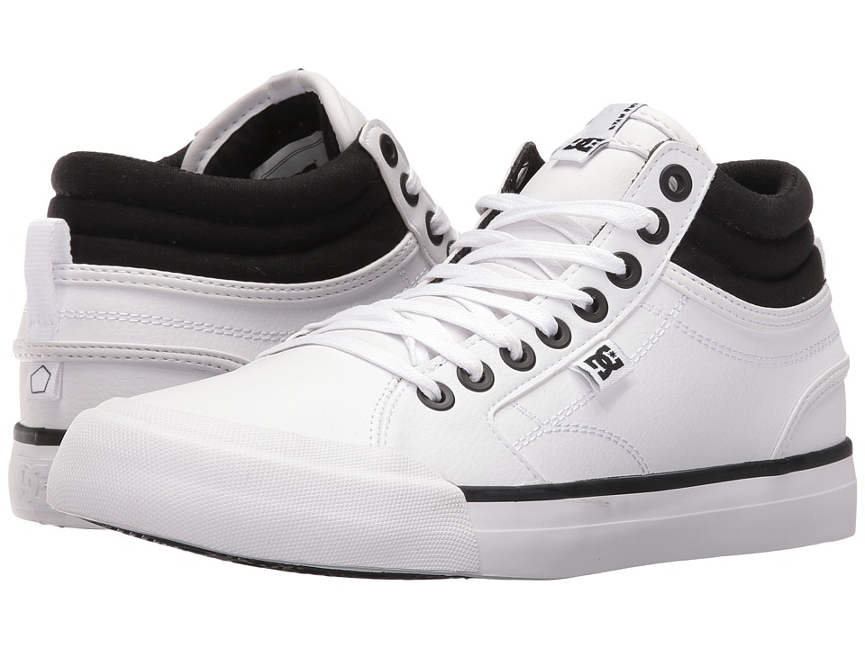 DC - Evan Hi (Black/White) Women's Skate Shoes