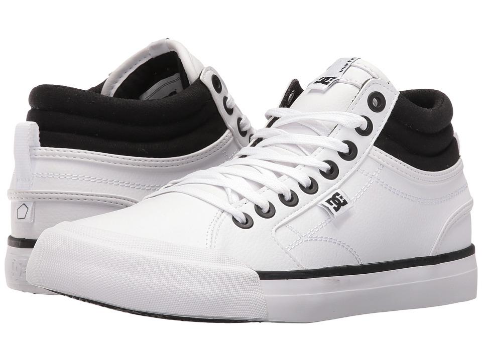 DC - Evan Hi (Black/White) Women's Skate Shoes