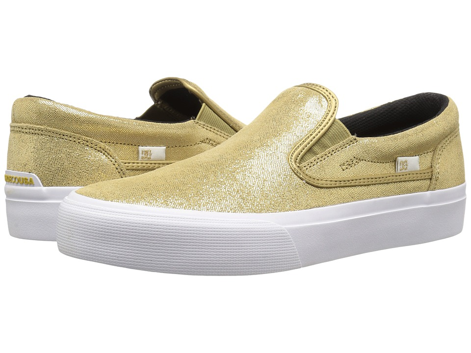 DC - Trase Slip-On XE (Gold) Women's Skate Shoes