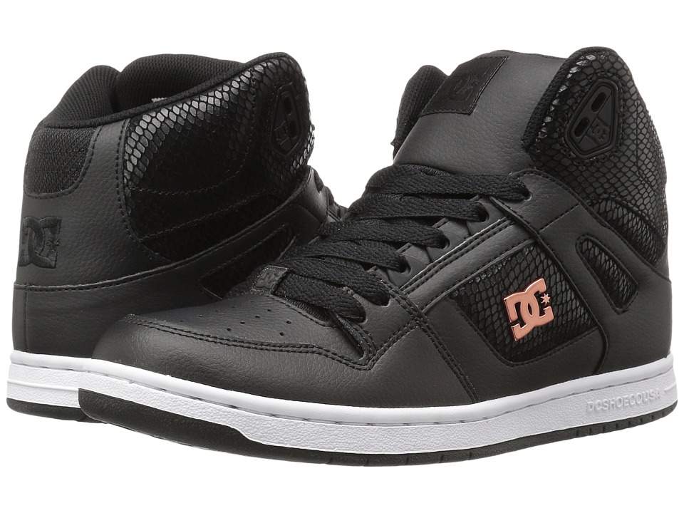 DC - Rebound High SE (Black/Black) Women's Skate Shoes