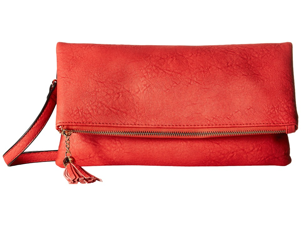 Gabriella Rocha - Amaria Fold-Over Clutch with Shoulder Strap (Red) Clutch Handbags