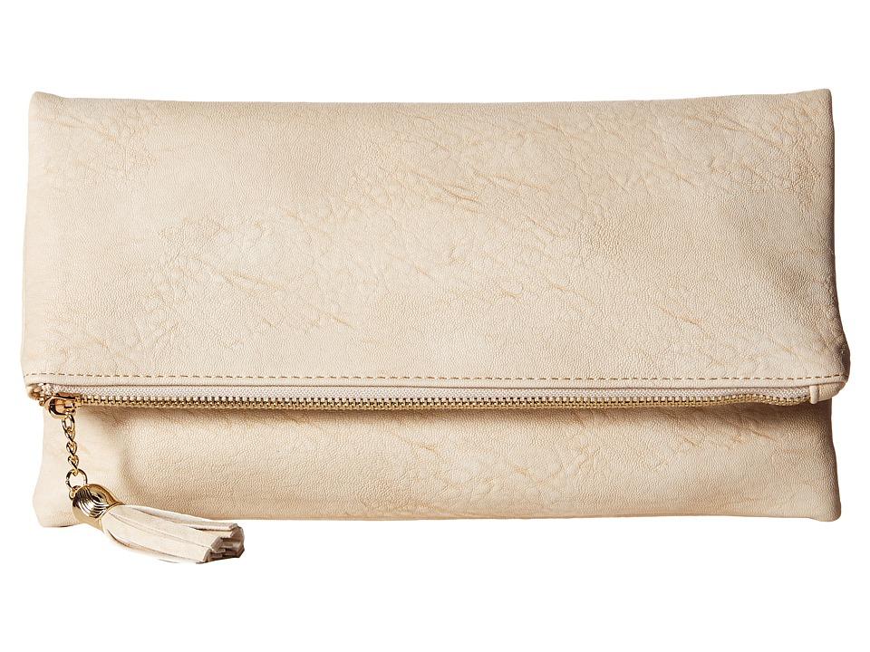 Gabriella Rocha - Amaria Fold-Over Clutch with Shoulder Strap (Sand) Clutch Handbags