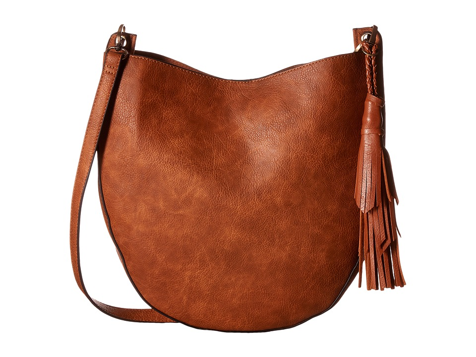 Gabriella Rocha - Large Crossbody Purse with Tassel (Brown) Cross Body Handbags
