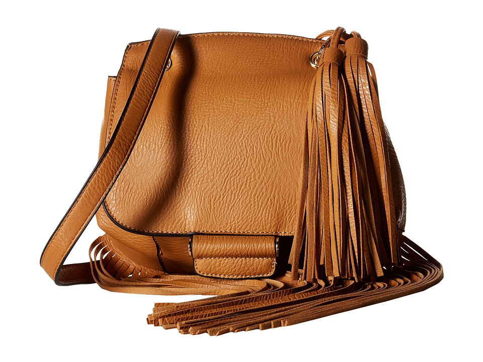Gabriella Rocha - Kamile Crossbody Purse with Long Fringe (Tan) Cross Body Handbags