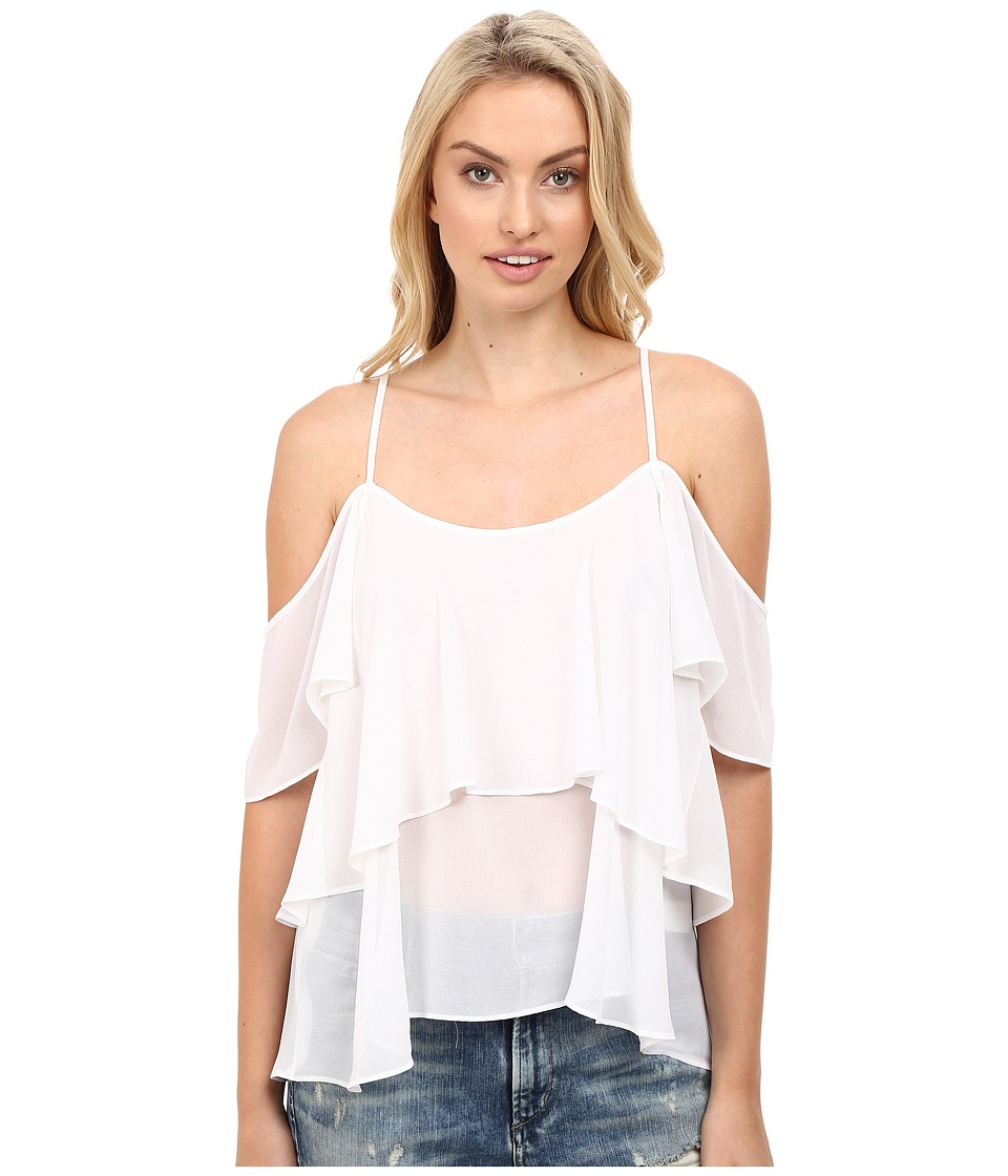 Show Me Your Mumu - Romance Ruffle Top (White Chiffon) Women's Clothing
