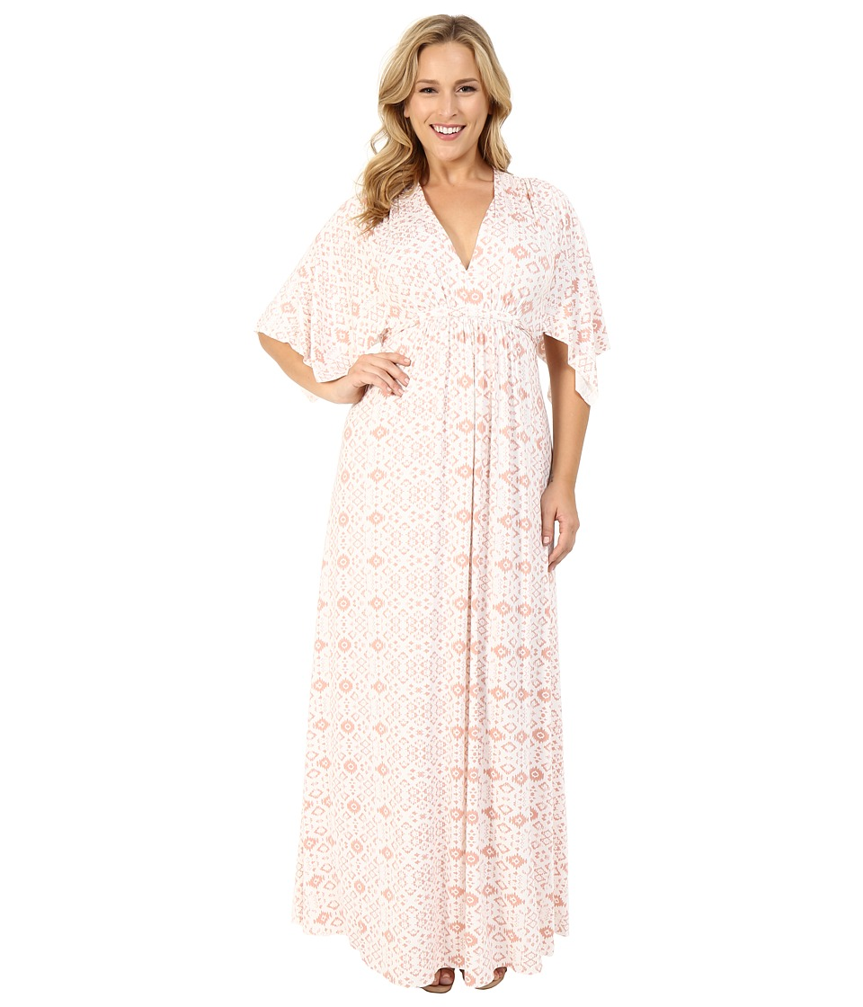 Rachel Pally Plus - Plus Size Long Caftan Dress (Dusty Medallion) Women's Dress plus size,  plus size fashion plus size appare