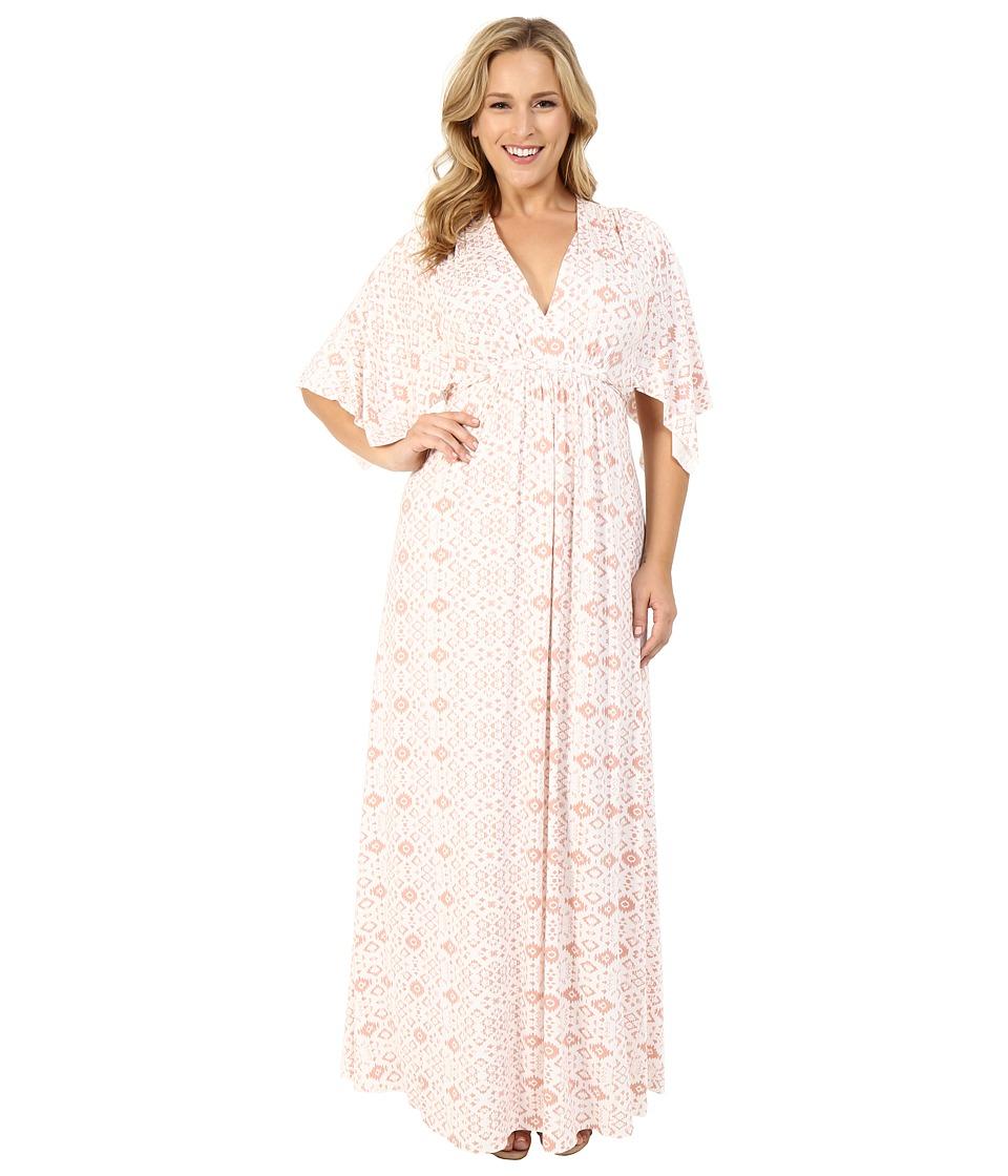 Rachel Pally Plus - Plus Size Long Caftan Dress (Dusty Medallion) Women's Dress