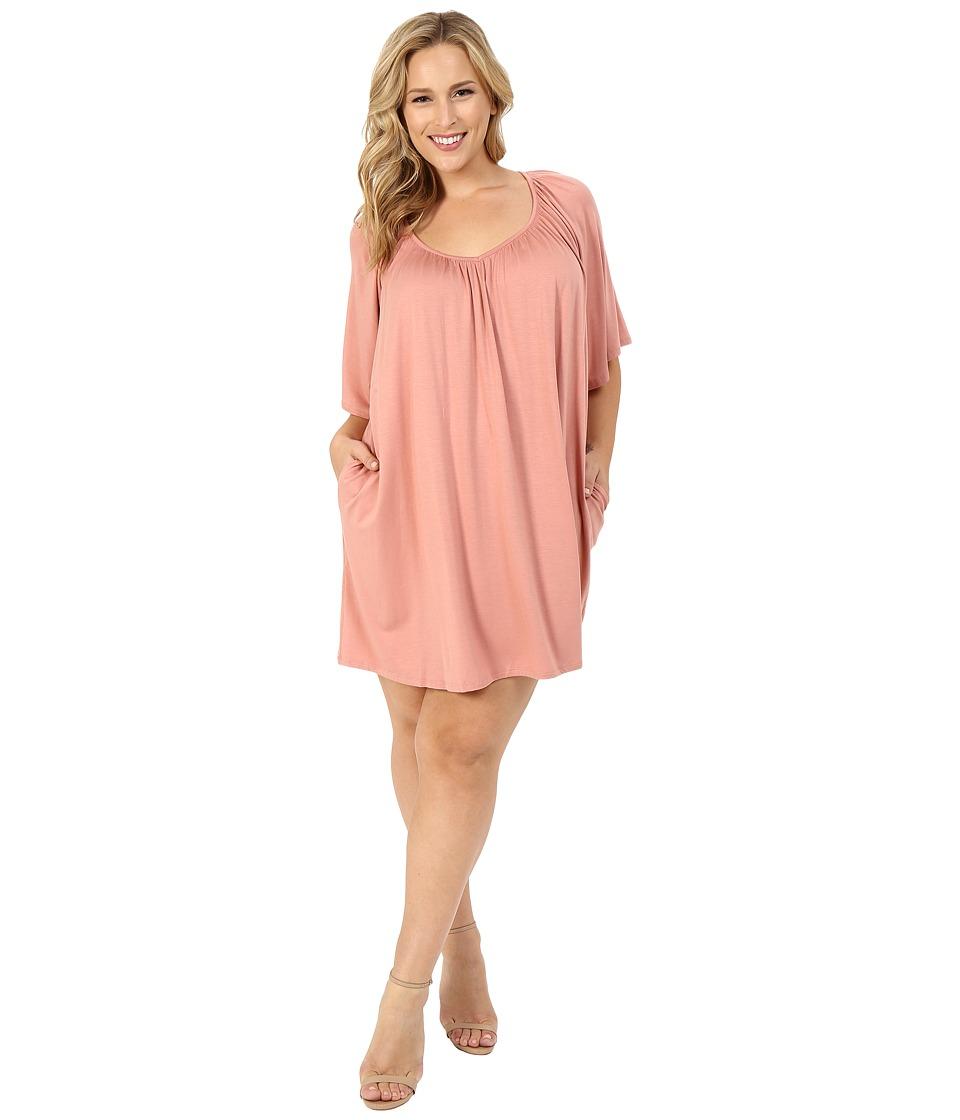 Rachel Pally Plus Plus Size Joss Dress White Label (Dusty) Women