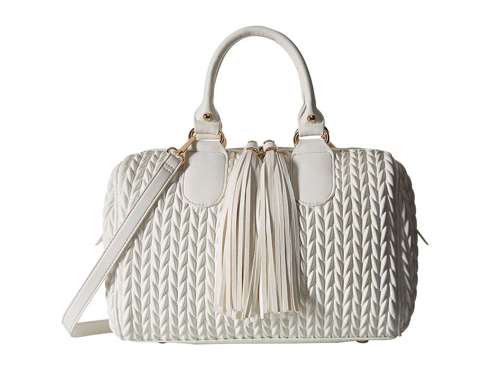Gabriella Rocha - Mariana Satchel with Tassels (White) Satchel Handbags