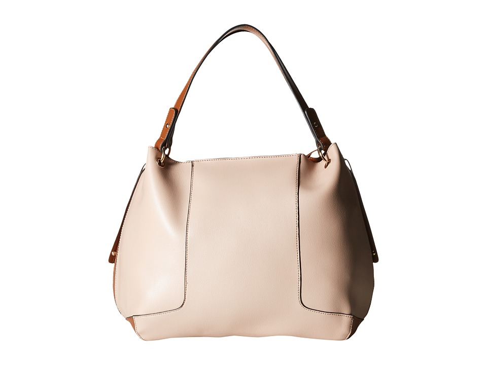 Gabriella Rocha - Mariya Color Block Tote with Zipper Detail (Beige/Brown) Tote Handbags
