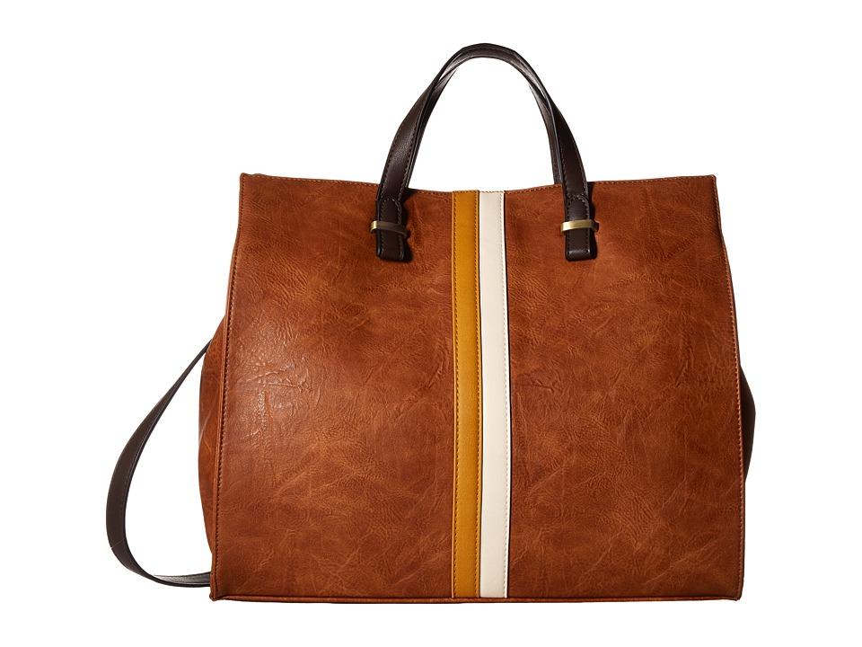 Gabriella Rocha - Sanna Tote with Center Stripe (Brown) Tote Handbags