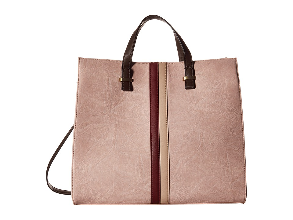 Gabriella Rocha - Sanna Tote with Center Stripe (Dark Pink) Tote Handbags