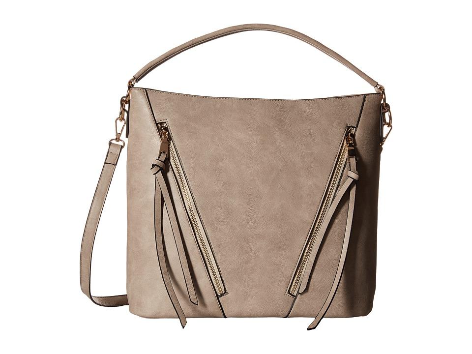 Gabriella Rocha - Krystyna Double Zipper Tote (Stone) Cross Body Handbags