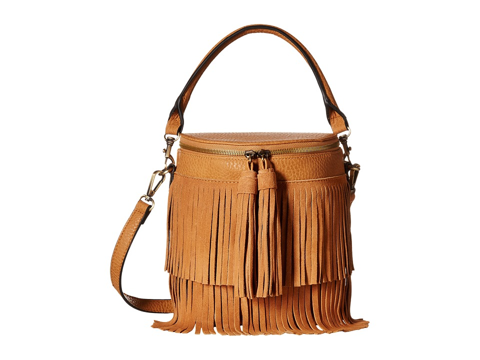 Gabriella Rocha - Polina Bucket Purse with Fringe (Tan) Wallet Handbags