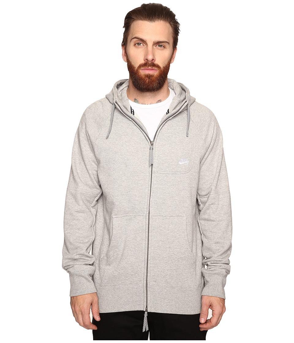 Nike SB - SB Everett Hoodie (Dark Grey Heather/White) Men's Sweatshirt