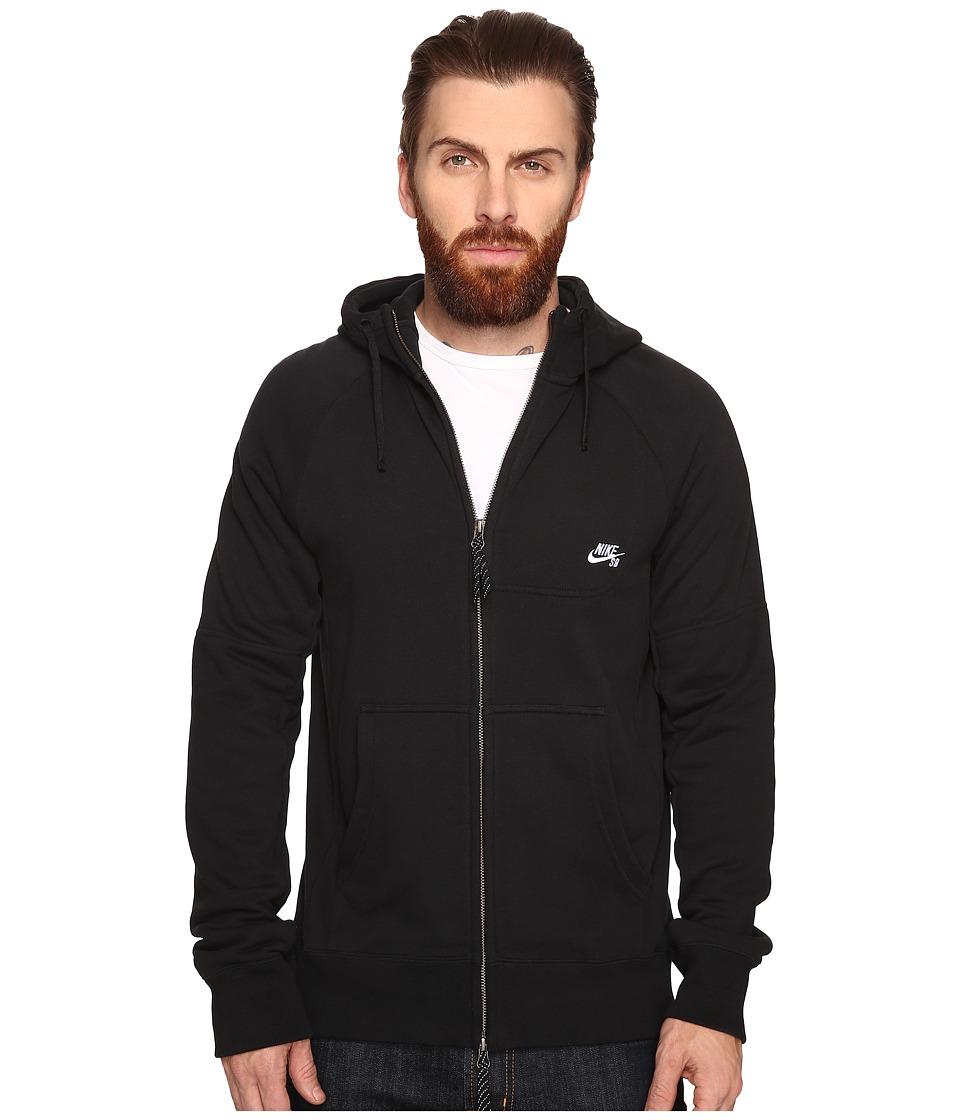 Nike SB - SB Everett Hoodie (Black/White) Men's Sweatshirt