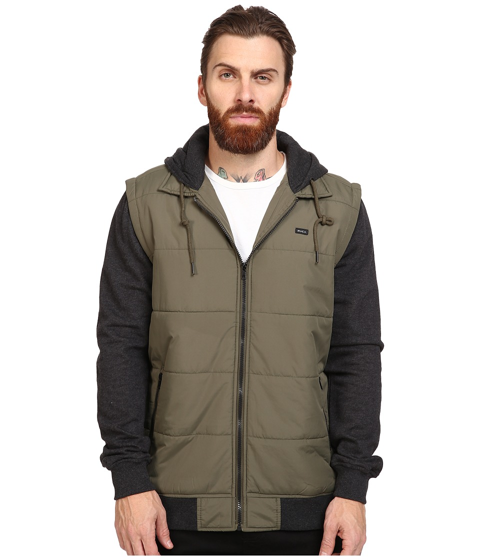 RVCA - Puffer Zips Jacket (Leaf) Men's Coat