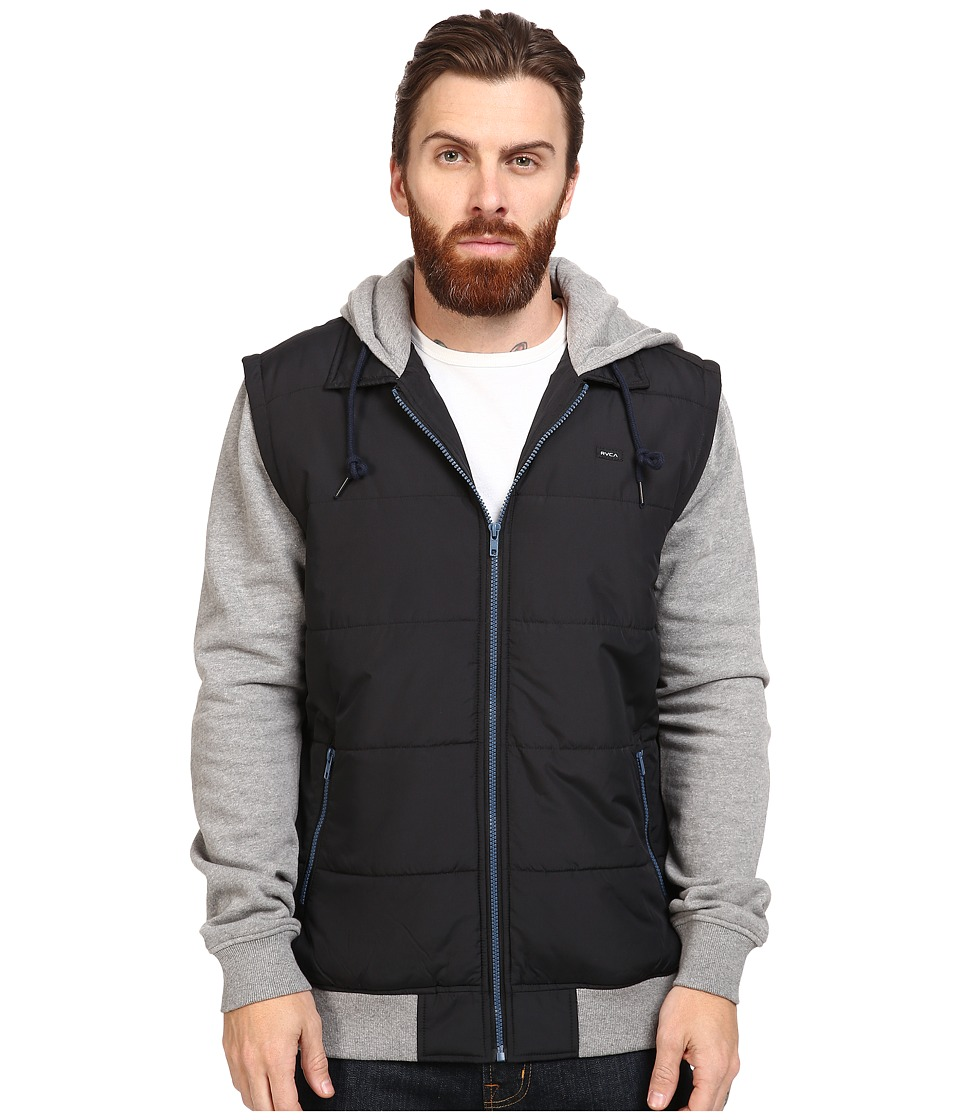 RVCA - Puffer Zips Jacket (Black 1) Men's Coat
