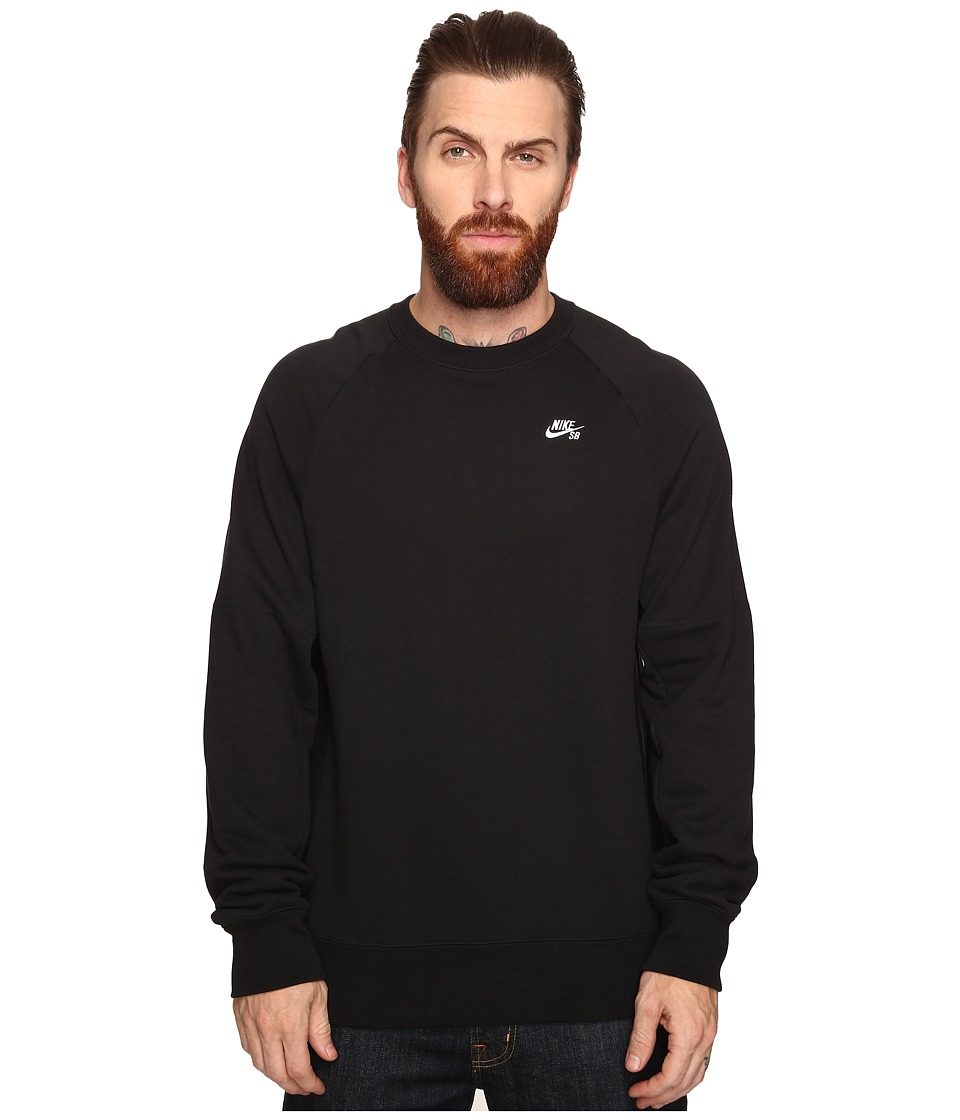 Nike SB - SB Everett Crew Top (Black/White) Men's Long Sleeve Pullover