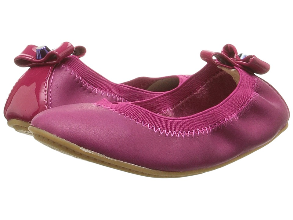 Yosi Samra Kids - Selma Oil Slick Patent Leather Flat (Toddler/Little Kid/Big Kid) (Raspberry) Girls Shoes