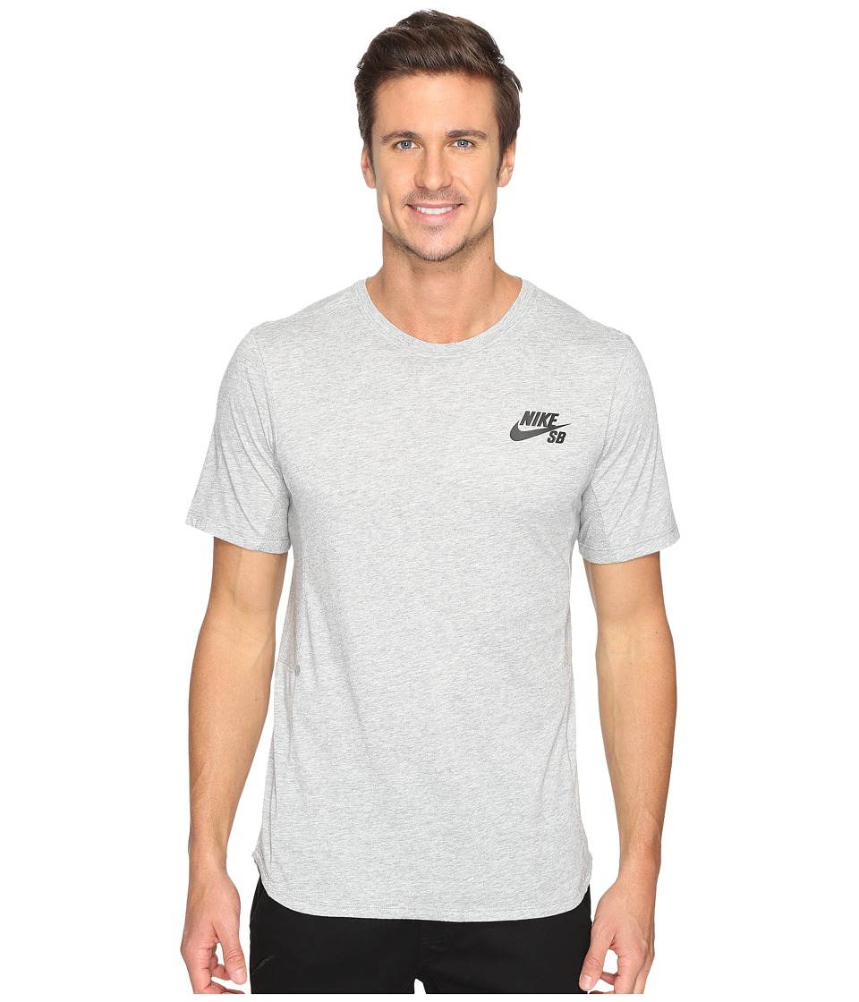 Nike SB - SB Dry Skyline Top (Dark Grey Heather/Black) Men's T Shirt
