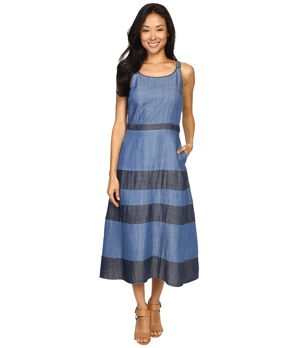 Tommy Bahama - Chambray All Day Tiered Dress (Medium Worn Wash) Women's Dress