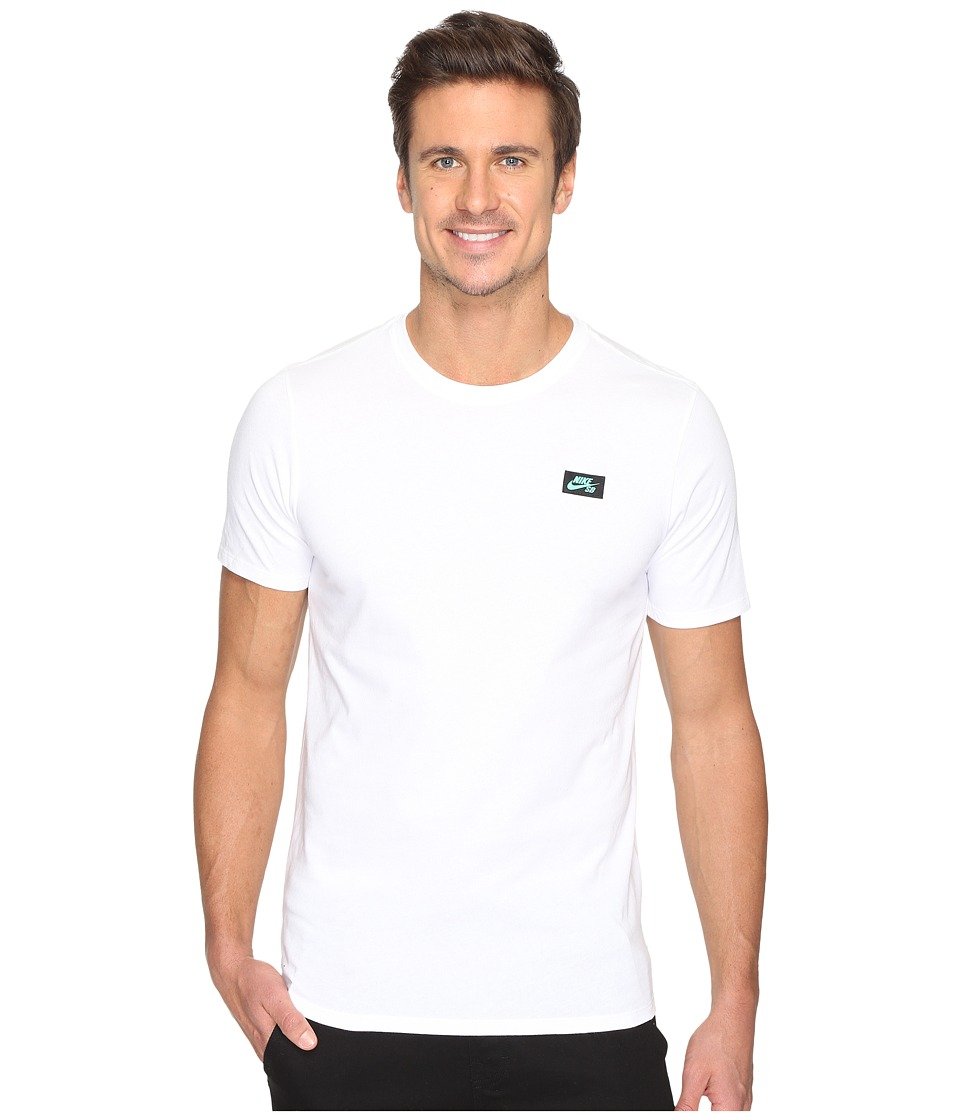 Nike SB - SB Box T-Shirt (White/White/Green Glow) Men's T Shirt