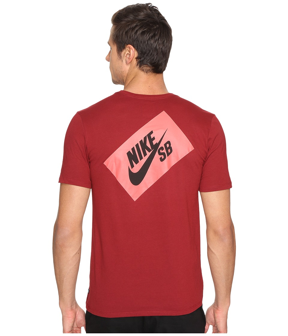 Nike SB - SB Box T-Shirt (Team Red/Team Red/Black) Men's T Shirt
