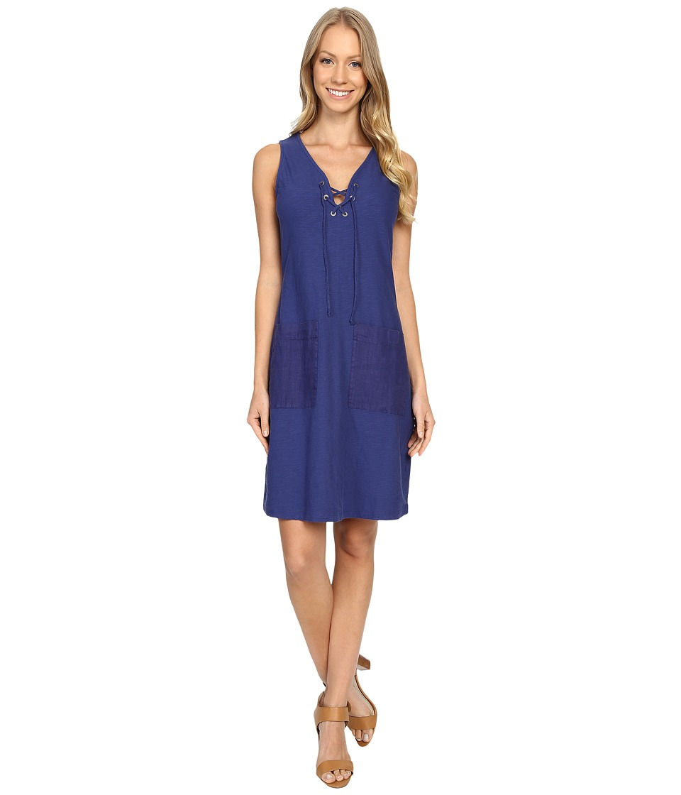 Tommy Bahama - Arden Jersey Lace-Up Dress (Deep Space) Women's Dress