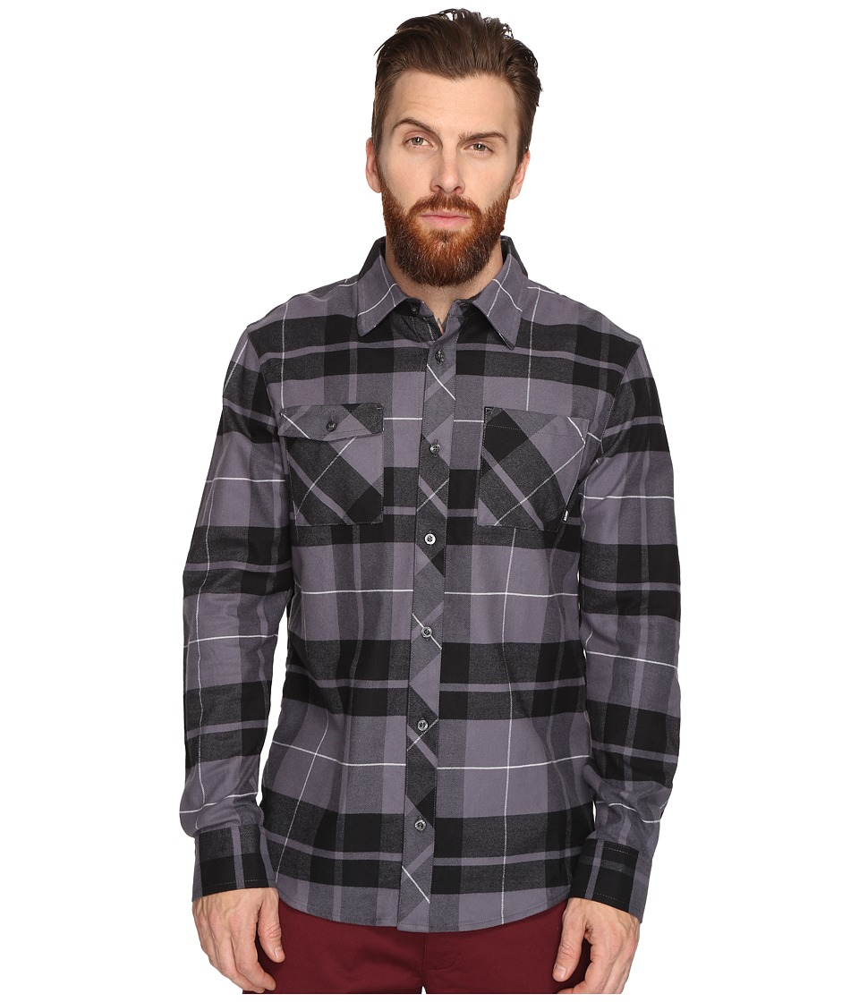 Nike SB - SB Plaid Woven Long Sleeve Shirt (Black) Men's Long Sleeve Button Up