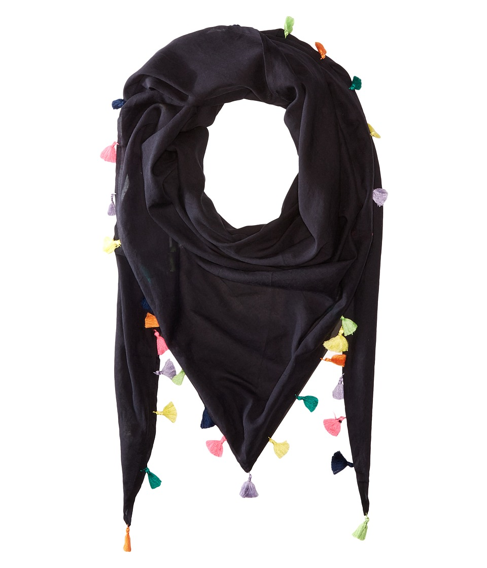 Michael Stars - Tassel Party Triangle Scarf (Black) Scarves