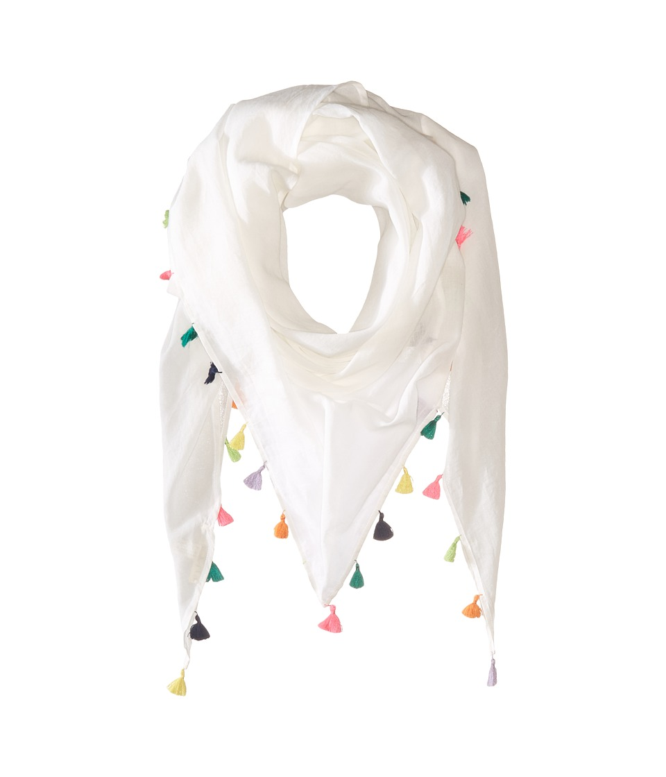 Michael Stars - Tassel Party Triangle Scarf (Chalk) Scarves