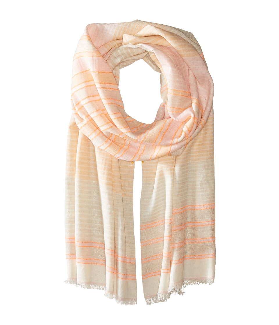 Michael Stars - Speckle Stripe Scarf (Coral Sun) Scarves