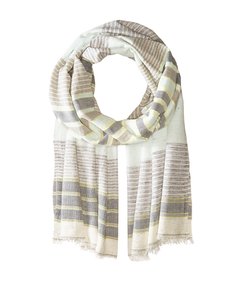 Michael Stars - Speckle Stripe Scarf (Oyster) Scarves