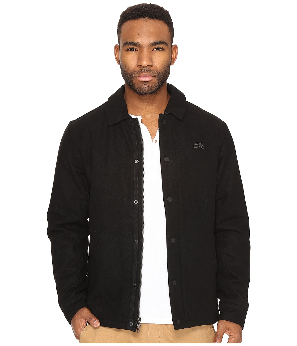 Nike SB - SB Wool Coaches Jacket (Black/Anthracite) Men's Coat