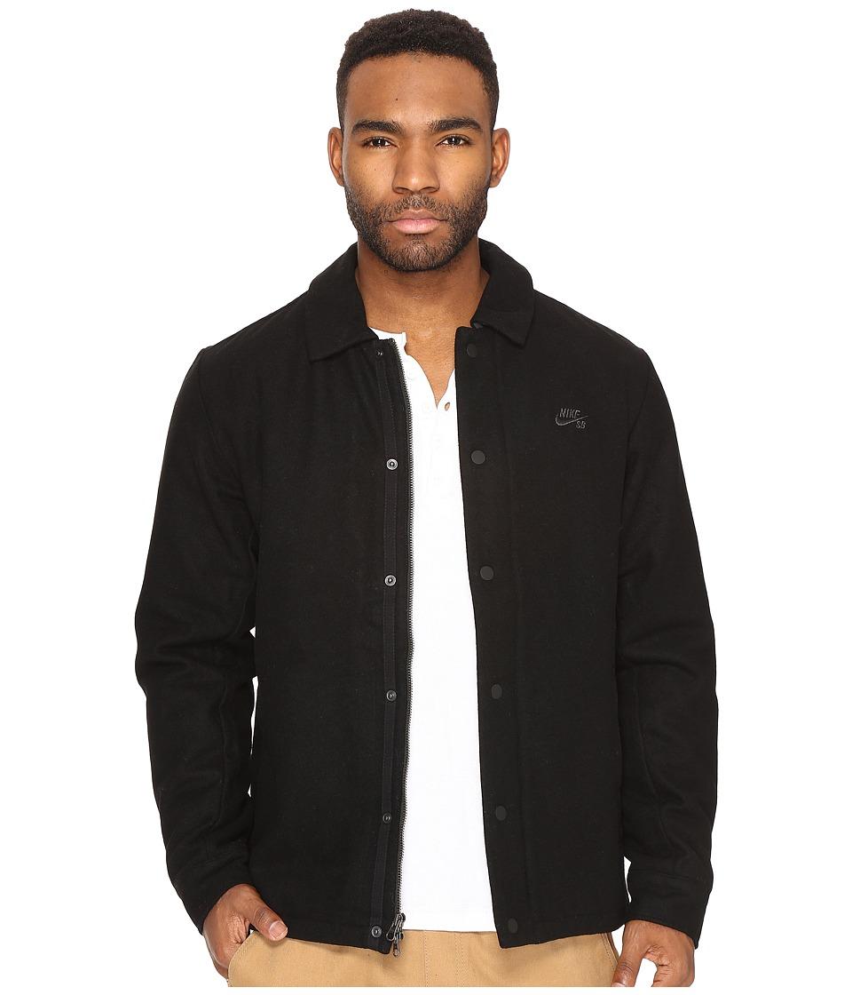 Nike SB - SB Wool Coaches Jacket (Black/Anthracite) Men's Coat