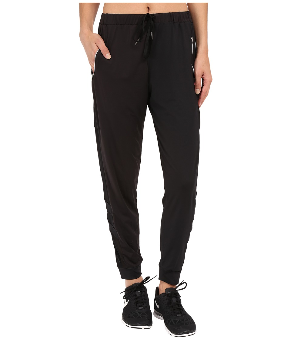Pink Lotus - Meditate Soul Lounge Pants with Mesh Side Detail (Black) Women's Casual Pants