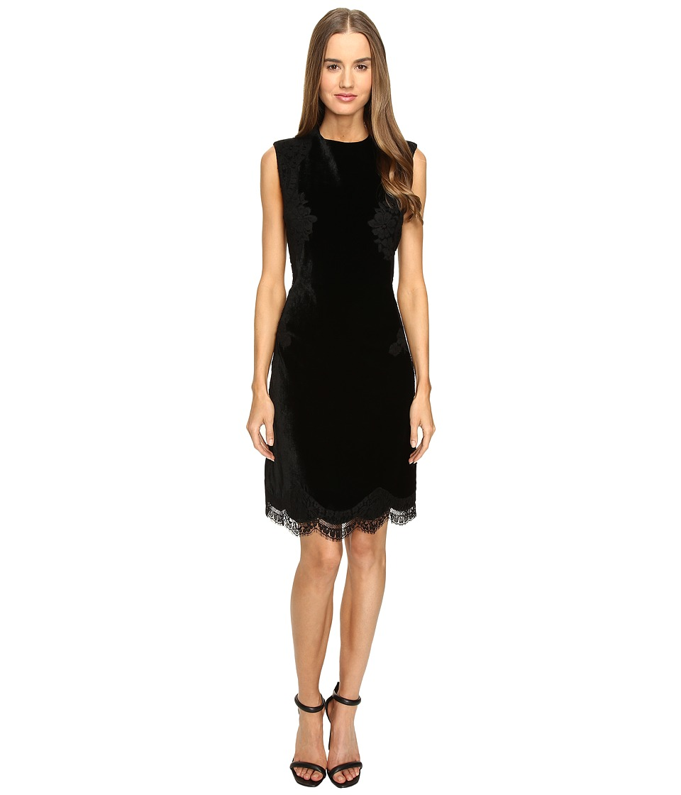 Alberta Ferretti Sleeveless Lace Trim Dress (Black) Women