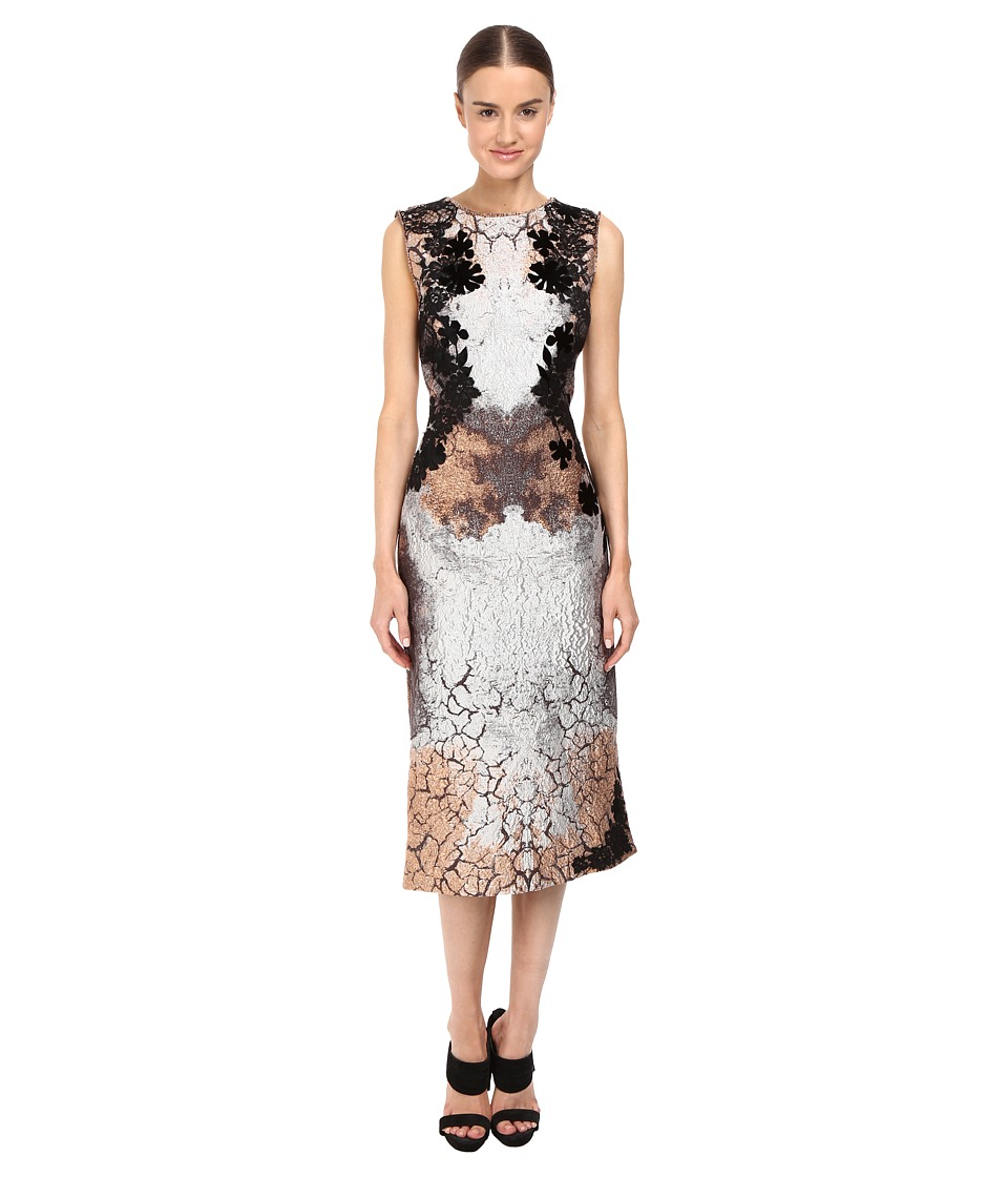 Alberta Ferretti Sleeveless Placed Printed Dress (Fantasia) Women