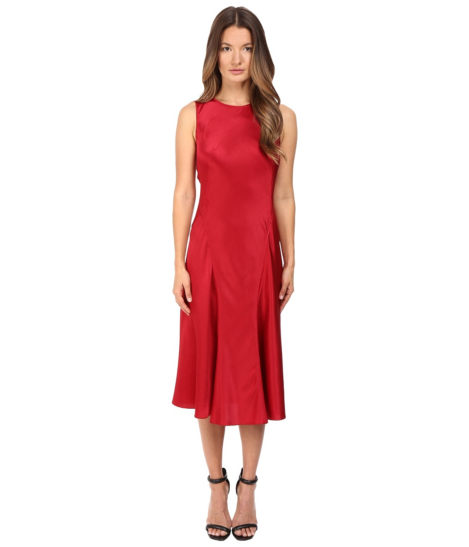 Alberta Ferretti Sleeveless Satin Dress (Ruby) Women